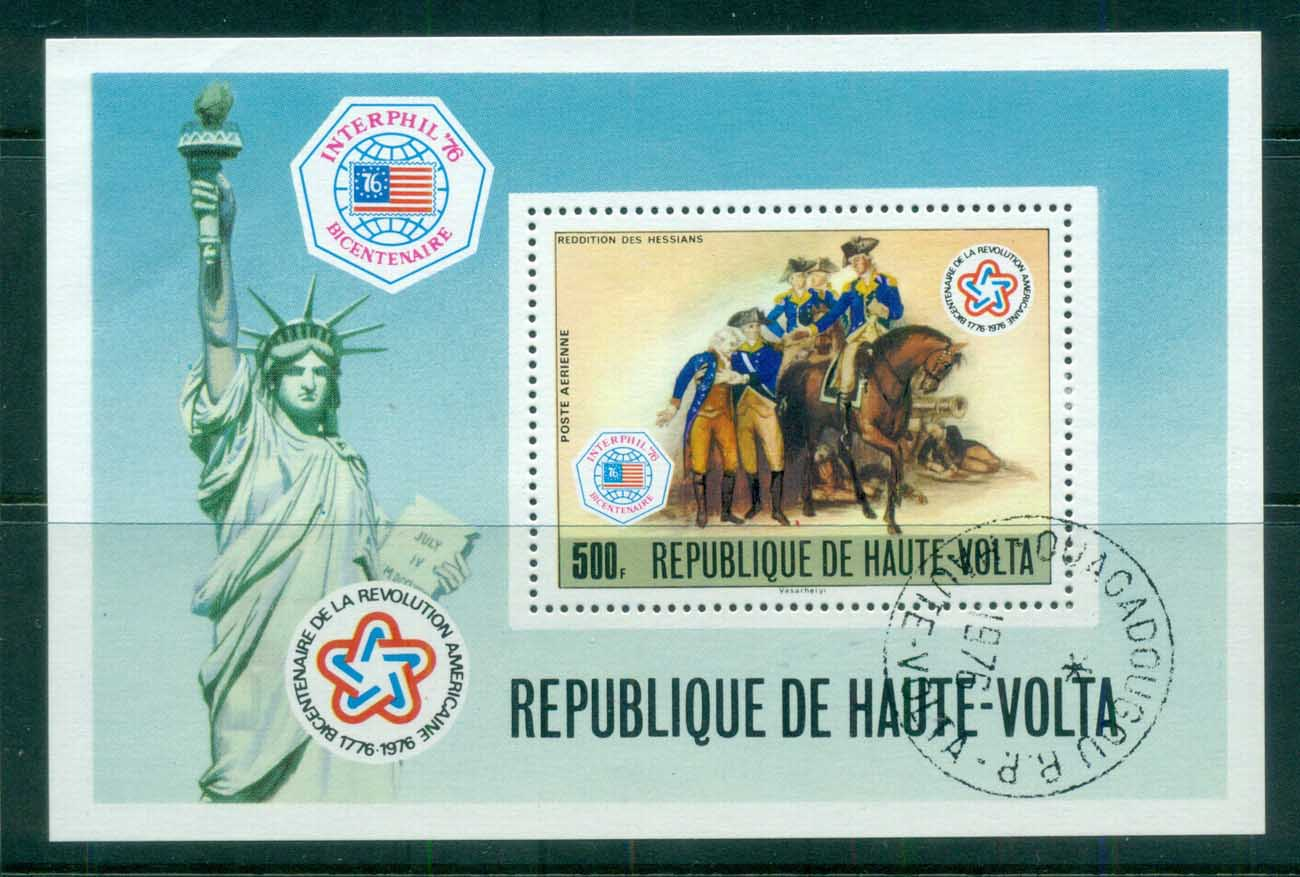 Upper Volta 1976 American Bicentenary INTERPHIL '76 MS CTO