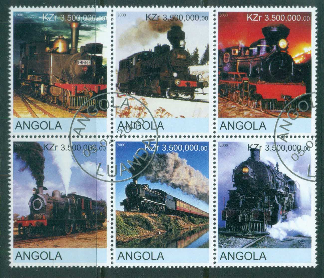 Angola 2000 Trains (Rebel Issue) CTO