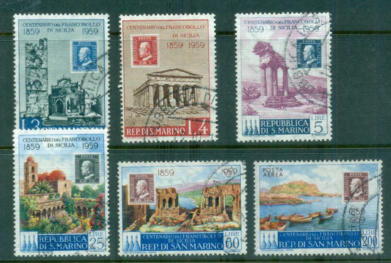 San Marino 1959 Stamp Centenary of Sicily FU
