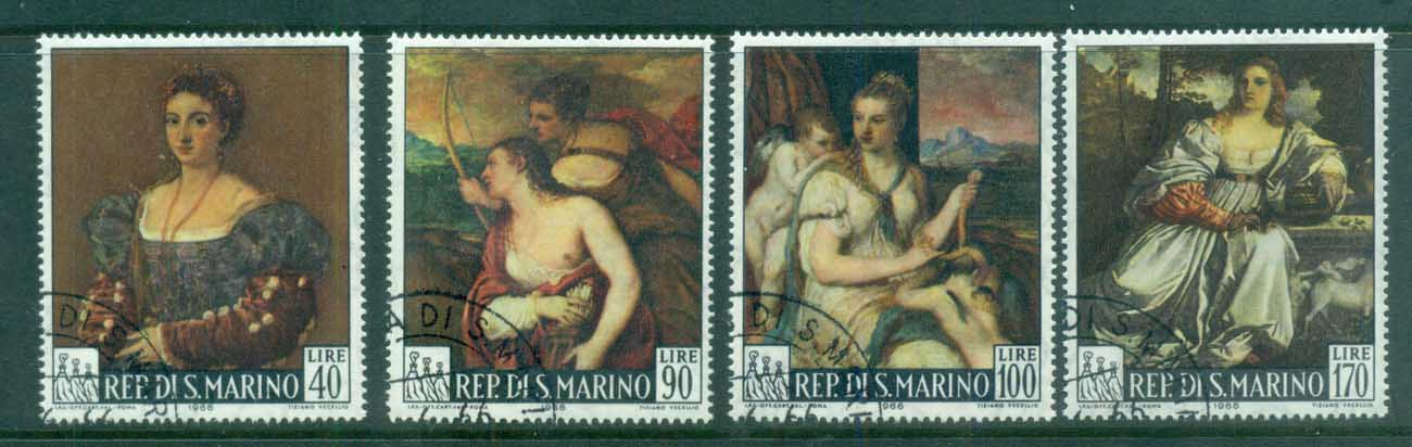 San Marino 1966 Paintings by Titian CTO