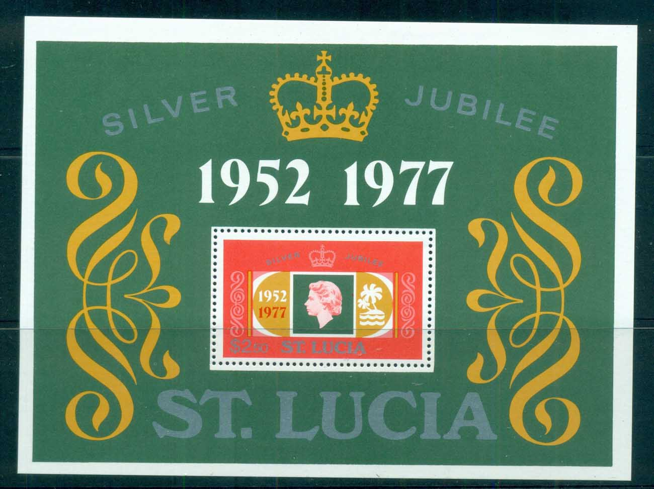 St Lucia 1977 QEII 25th Anniv of Reign MS MS MUH