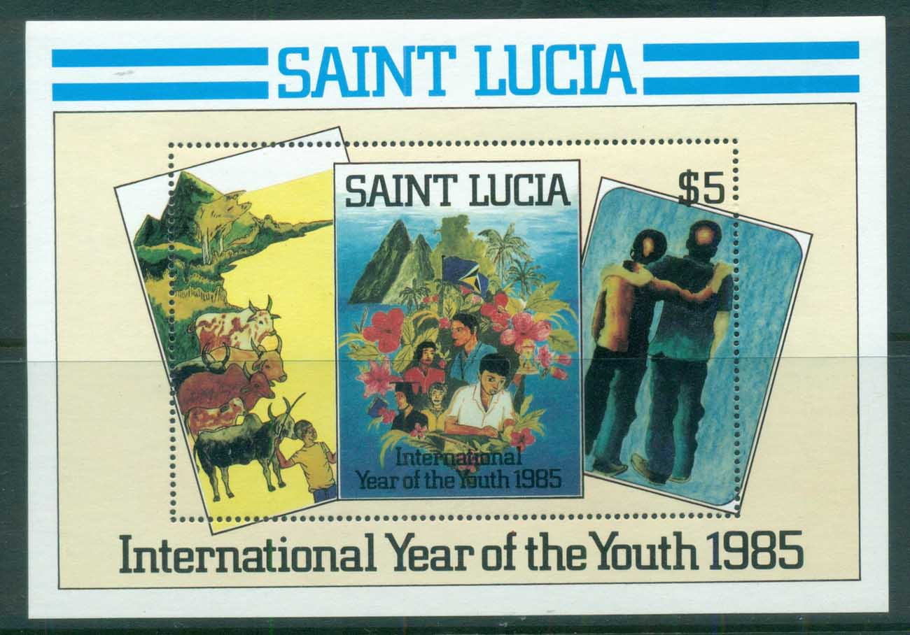 St Lucia 1985 Intl. Year of Youth MS MUH
