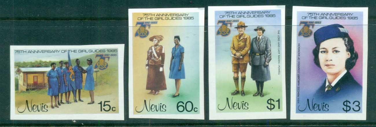 Nevis 1985 Girl Guides IMPERF MUH
