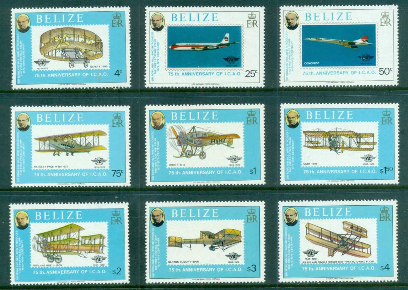 Belize 1979 Powrered Flight 75th Anniv., Rowland Hill MUH