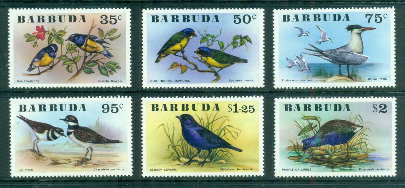 Barbuda 1976 Birds MUH
