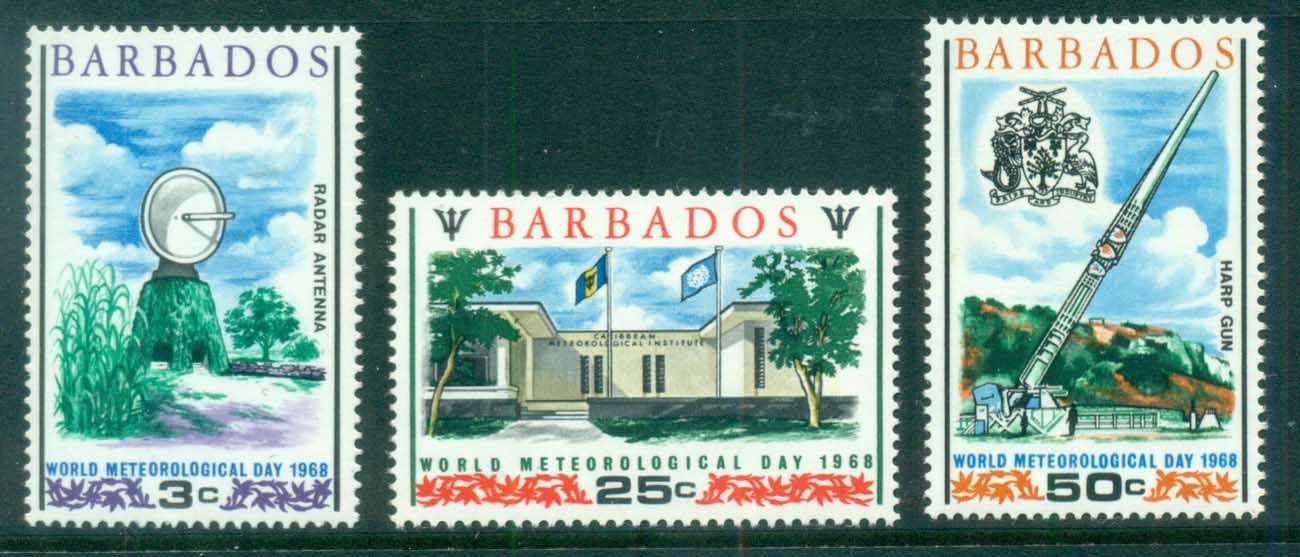 Barbados 1968 World Meterological Day MUH