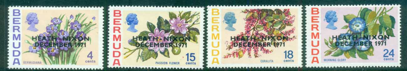 Bermuda 1971 Flowers Opt. Heath-Nixon MUH