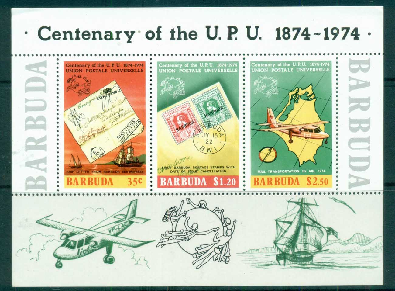 Barbuda 1974 UPU Cent. MS MUH
