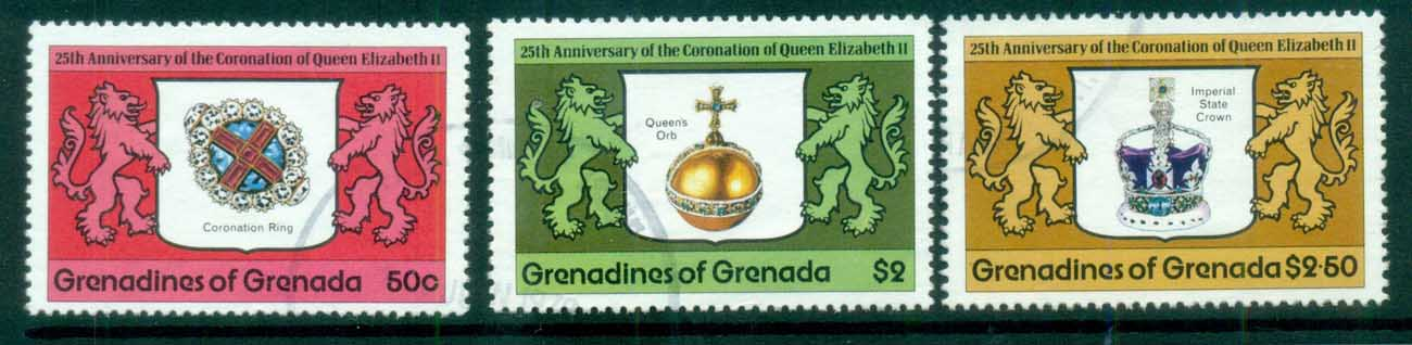 Grenada Grenadines 1978 QEII Coronation 25th Anniv, Royalty MUH