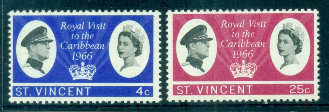 St Vincent 1966 Royal Visit MUH