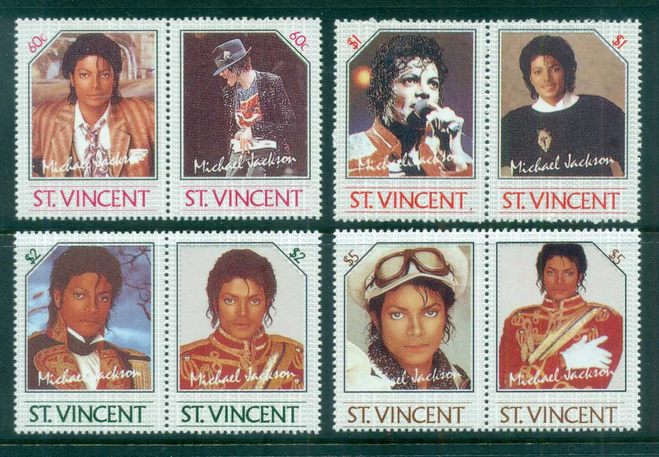 St Vincent 1985 Michael Jackson MUH REPRODUCTIONS Forgeries