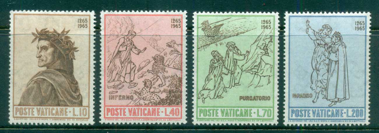 Vatican 1965 Dante Alighieri 700th Birth Anniv. MUH