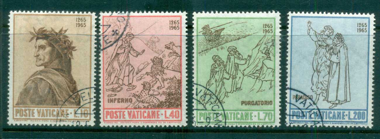 Vatican 1965 Dante Alighieri 700th Birth Anniv. CTO