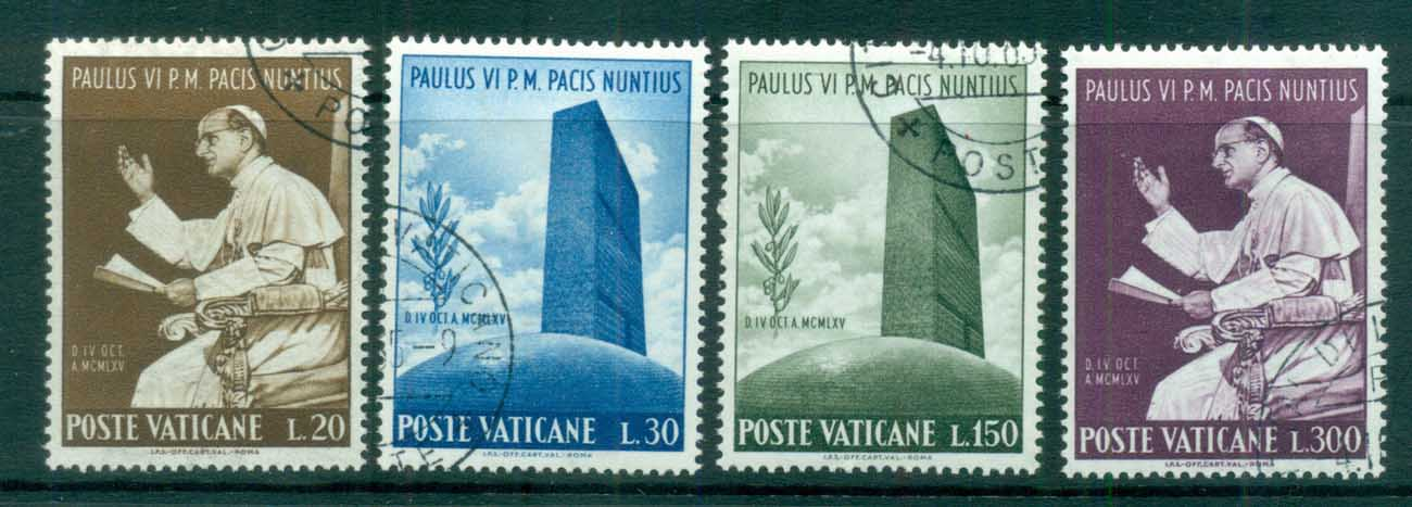 Vatican 1965 Visit of Pope Paul VI to UN CTO