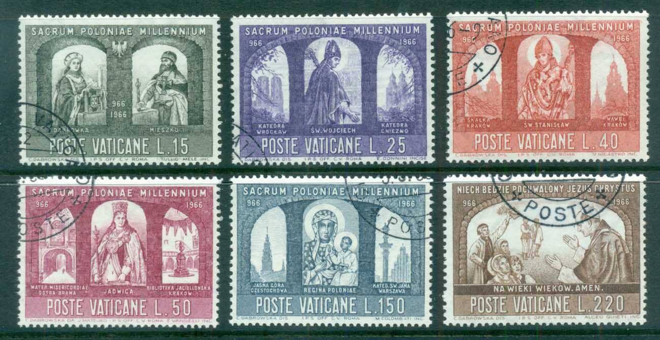 Vatican 1966 Civilisation of Poland, Millenium CTO