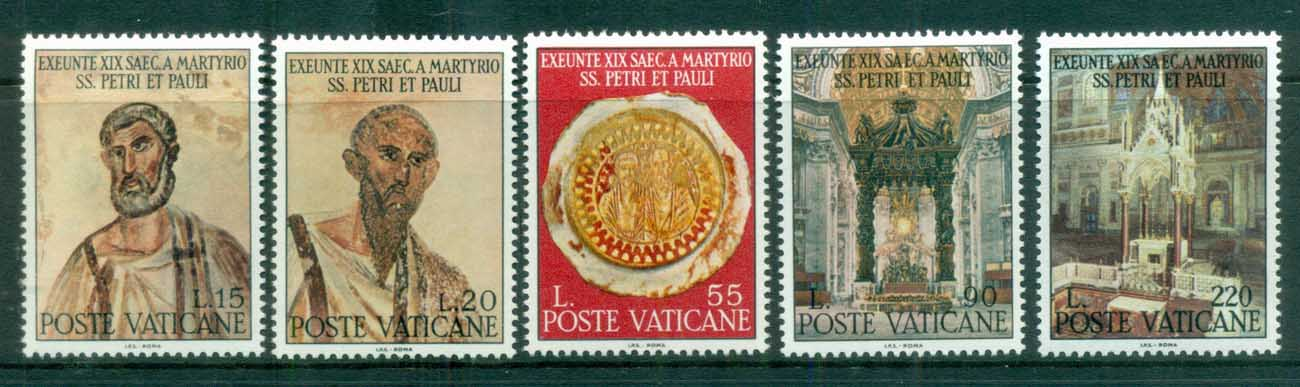 Vatican 1967 Martyrdon of Apostles Peter & Paul MUH