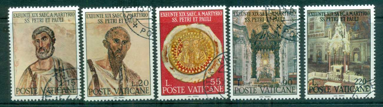Vatican 1967 Martyrdon of Apostles Peter & Paul CTO