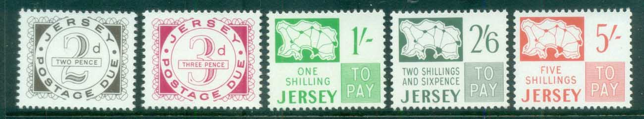Jersey 1969 Postage Dues (5/6, no 1d) MUH