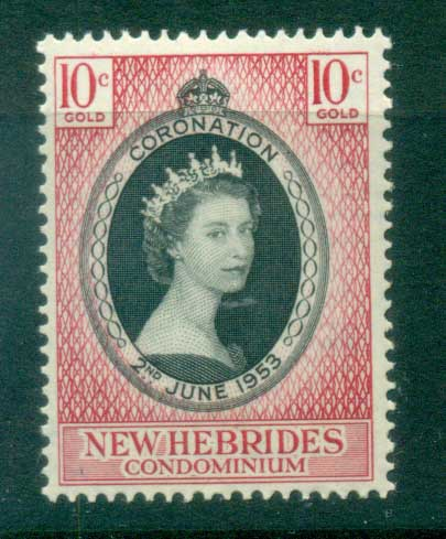 New Hebrides (Br) 1953 Coronation MLH