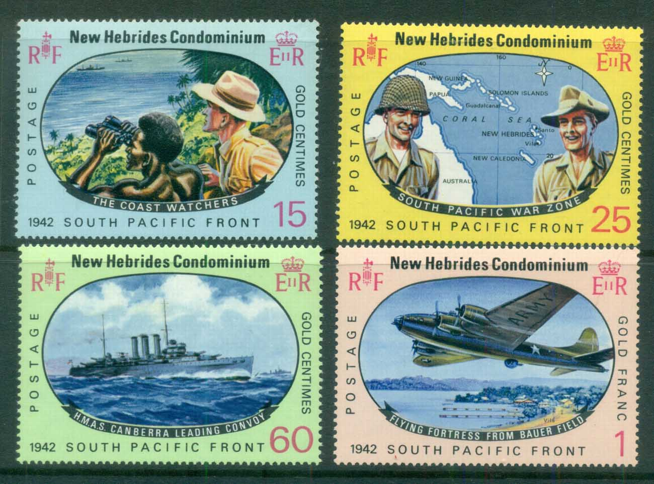 New Hebrides (Br) 1967 Allied Forces South Pacific War Zone MUH
