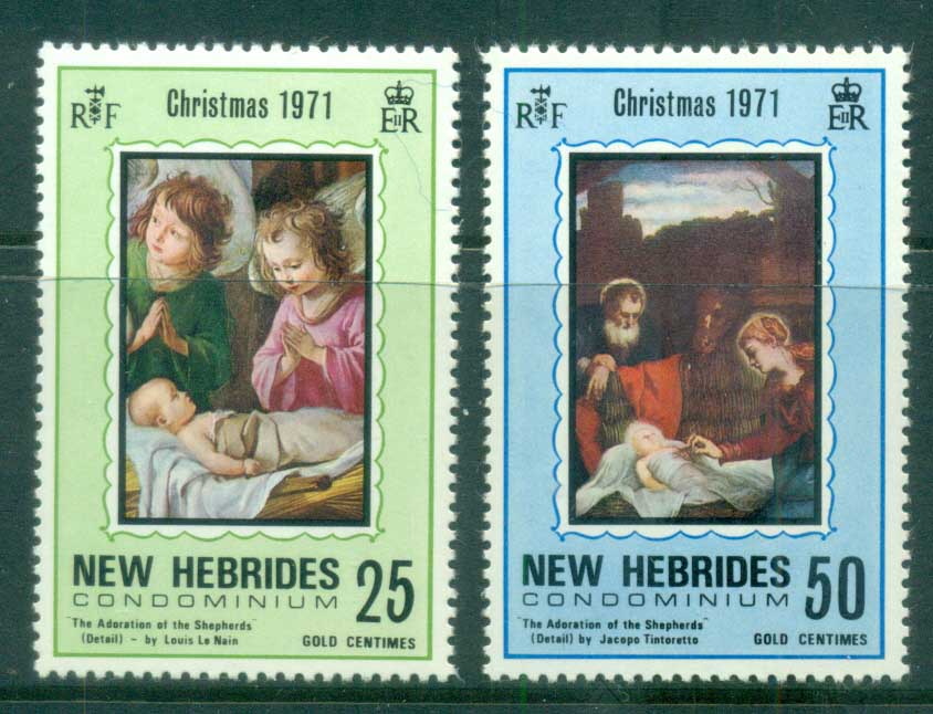 New Hebrides (Br) 1971 Xmas Nativity MUH