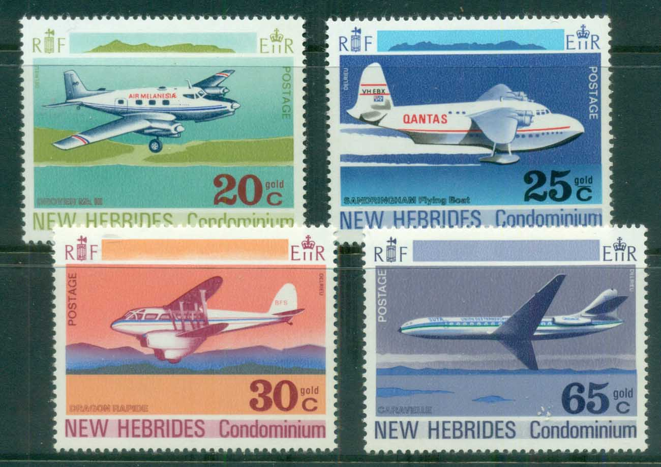 New Hebrides (Br) 1972 Airplanes MUH