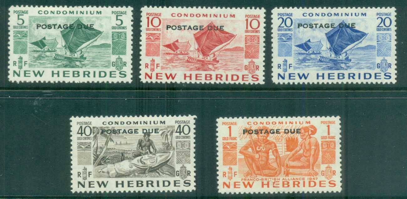 New Hebrides (Br) 1953 Postage Dues Opts MLH