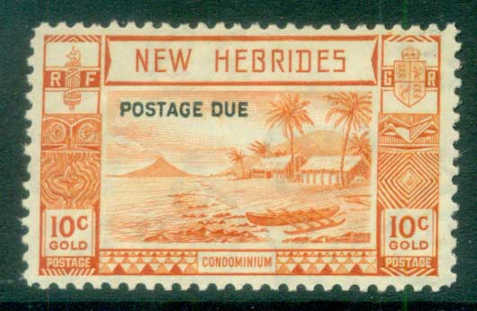 New Hebrides (Br) 1938 Postage Dues Opts 10c MUH