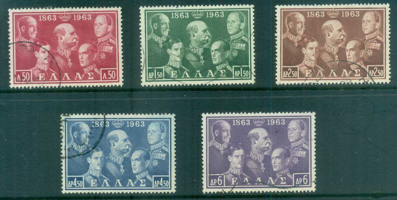 Greece 1963 Centenary of The Greek Dynasty FU