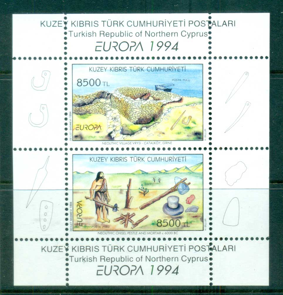 Cyprus Turkish 1994 Europa Archaeology MS MUH