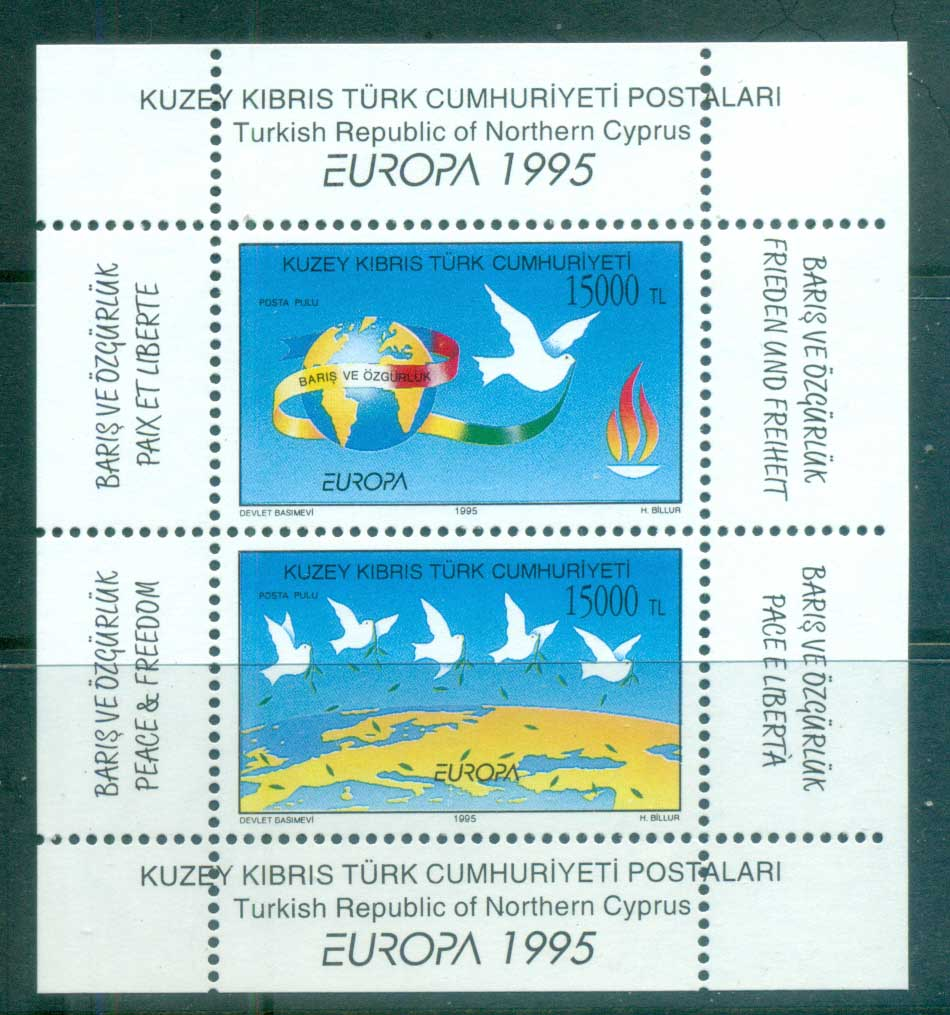 Cyprus Turkish 1995 Europa Peace & Freedom MS MUH