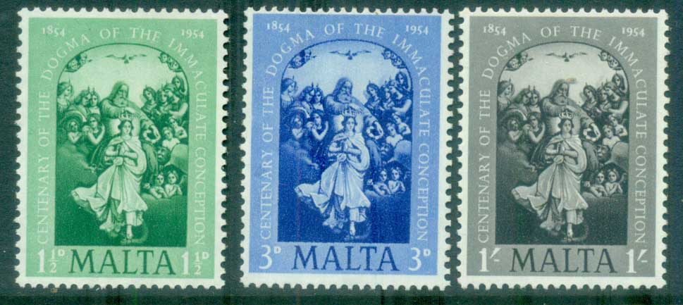 Malta 1954 Immaculate Conception MLH