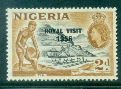 Nigeria 1956 Royal Visit Opt MLH