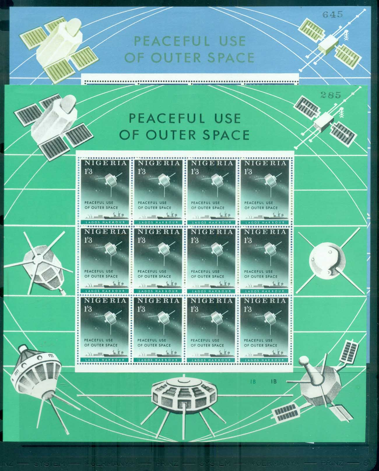 Nigeria 1963 Peaceful Use of Outer Space 2x Sheetlets MLH