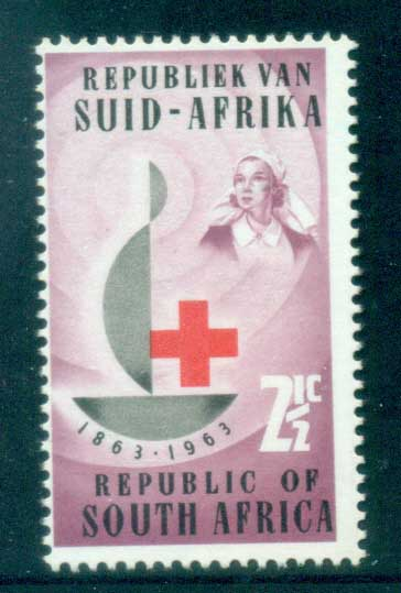 South Africa 1963 Red Cross Cent. Wmk Reversed MLH
