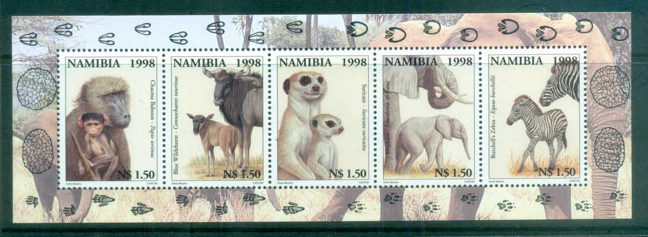 Namibia 1998 Animals & their Young MS MLH