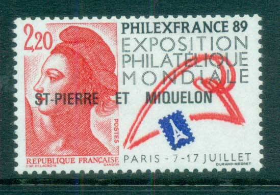 St Pierre & Miquelon 1988 Philex France MUH