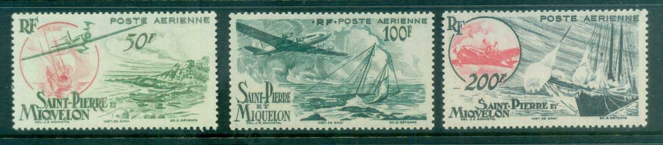St Pierre & Miquelon 1947 Air Mail MLH