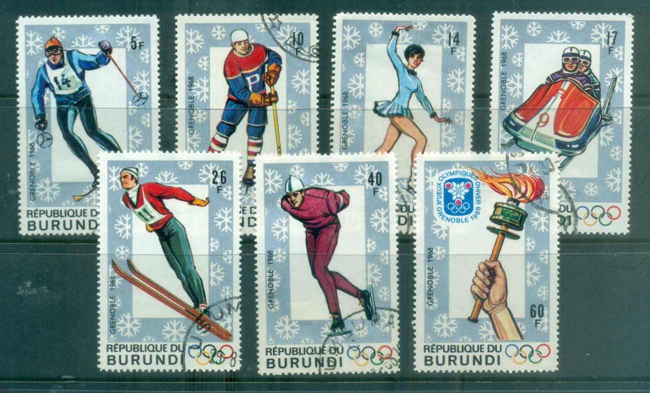 Burundi 1968 Winter Olympics Grenoble CTO