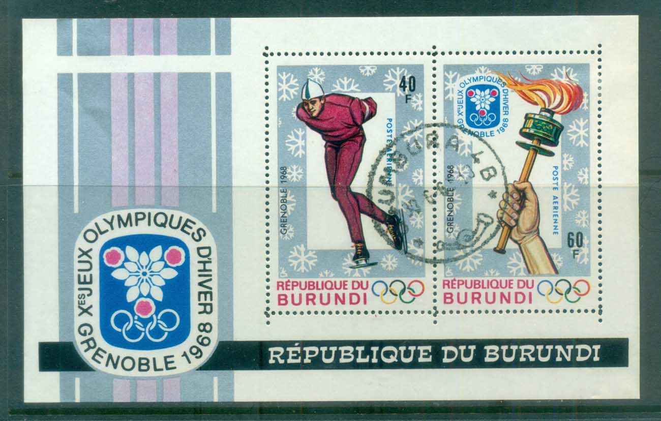 Burundi 1968 Winter Olympics Grenoble MS CTO