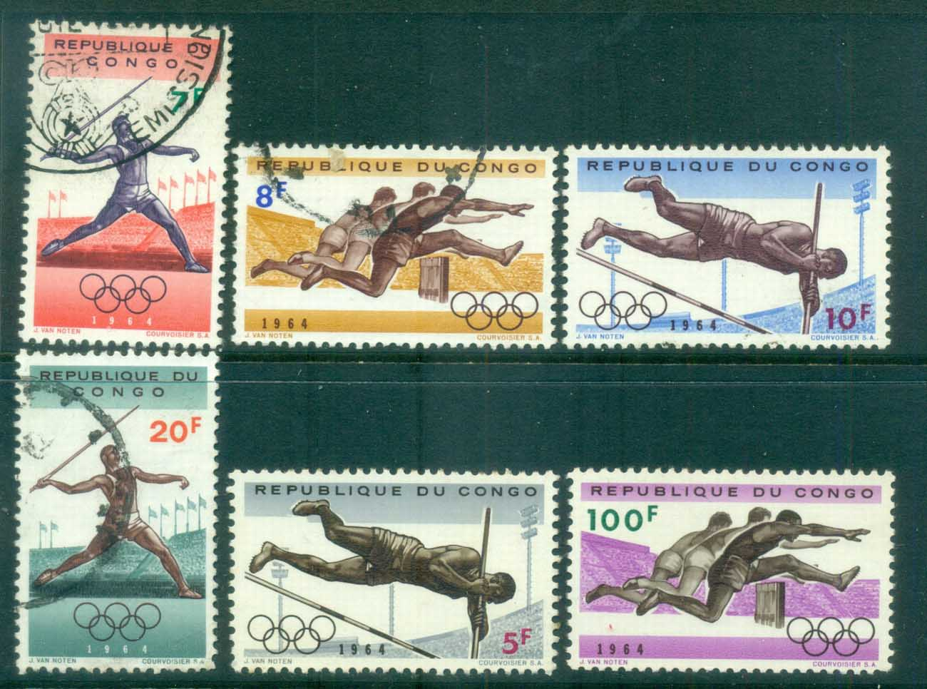 Congo DR 1964 Summer Olympics Tokyo MLH/FU