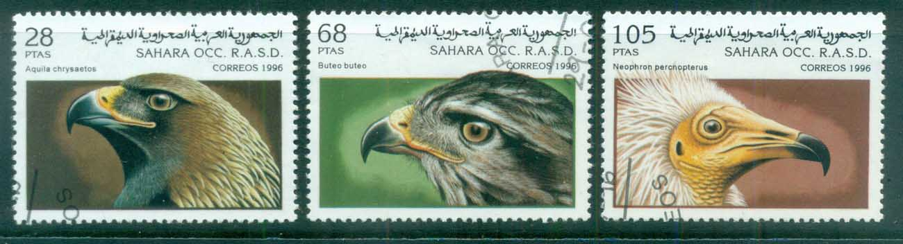 Sahara Occidental 1996 Birds of Prey CTO