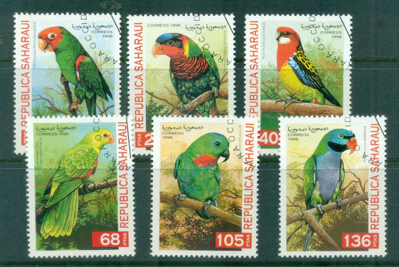 Sahara Occidental 1998 Birds, parrots CTO