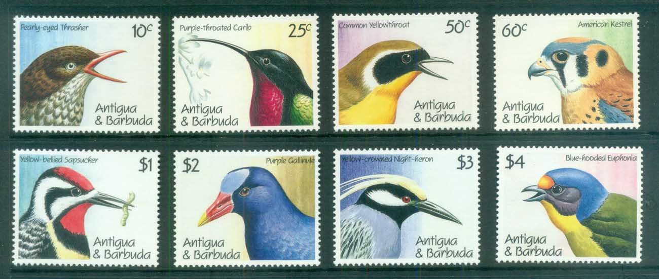 Antigua & Barbuda 1990 Birds MUH