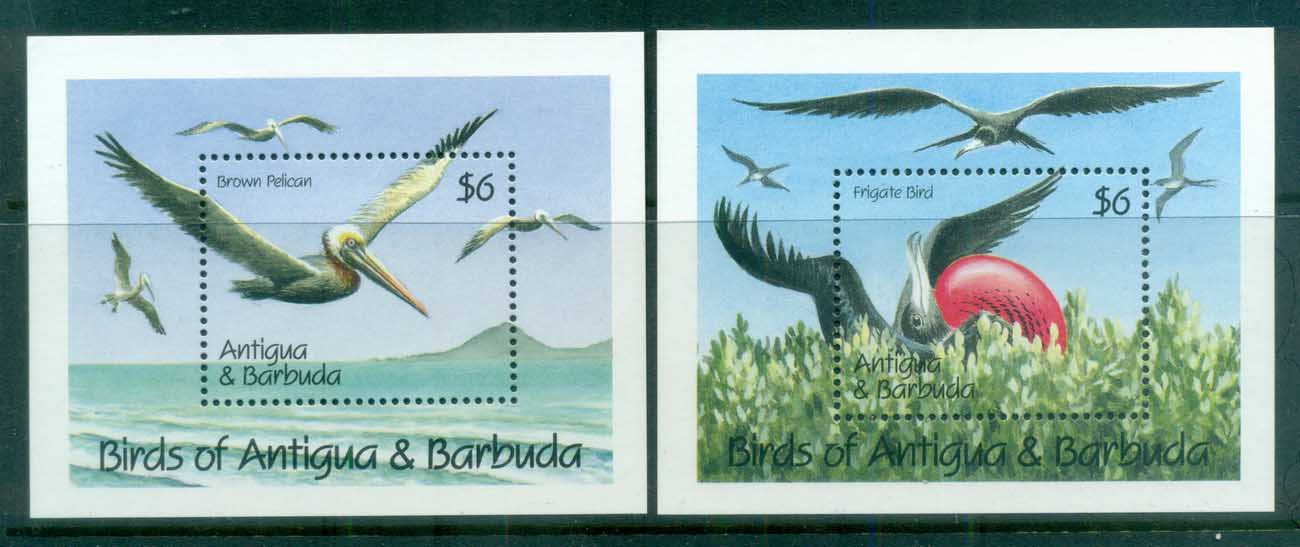 Antigua & Barbuda 1990 Birds 2xMS MUH