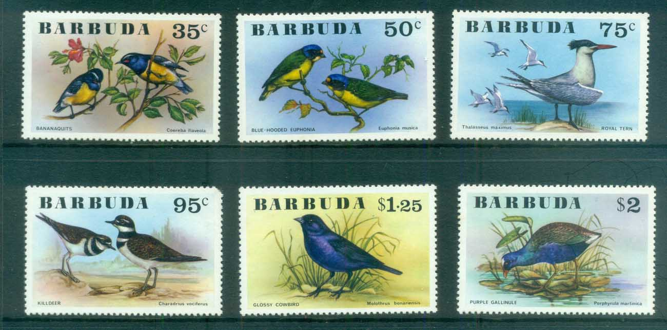 Barbuda 1976 Birds (95c short TRC) MLH