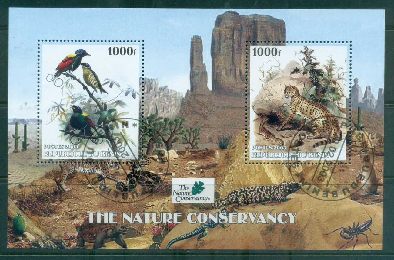 Benin 2003 Birds, Leopard, Nature Conservation MS CTO
