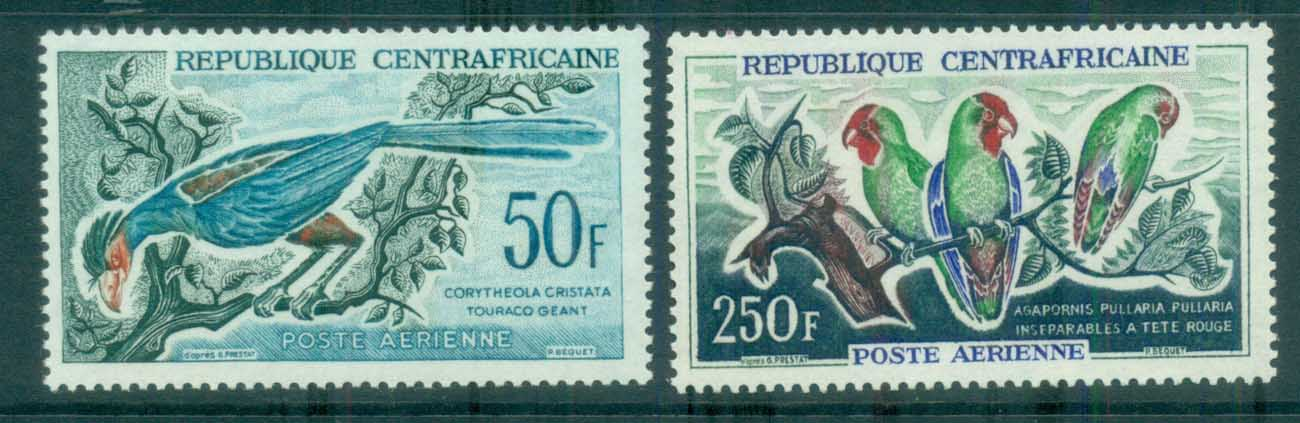 Central African Republic 1962-63 Birds, Air Mail MLH