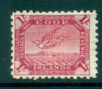Cook Is 1898-1900 Bird, Wybill 1/- MH