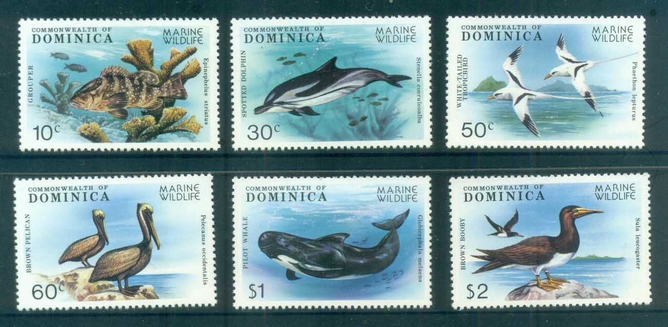Dominica 1979 Marine Wildlife, Bird, Whale MUH